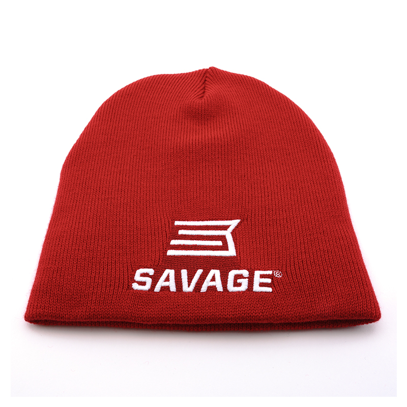 RED BEANIE HAT w/ SAVAGE LOGO