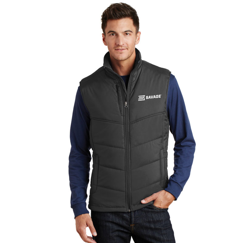 POLYESTER FULL ZIP VEST (Multiple Colors Available)