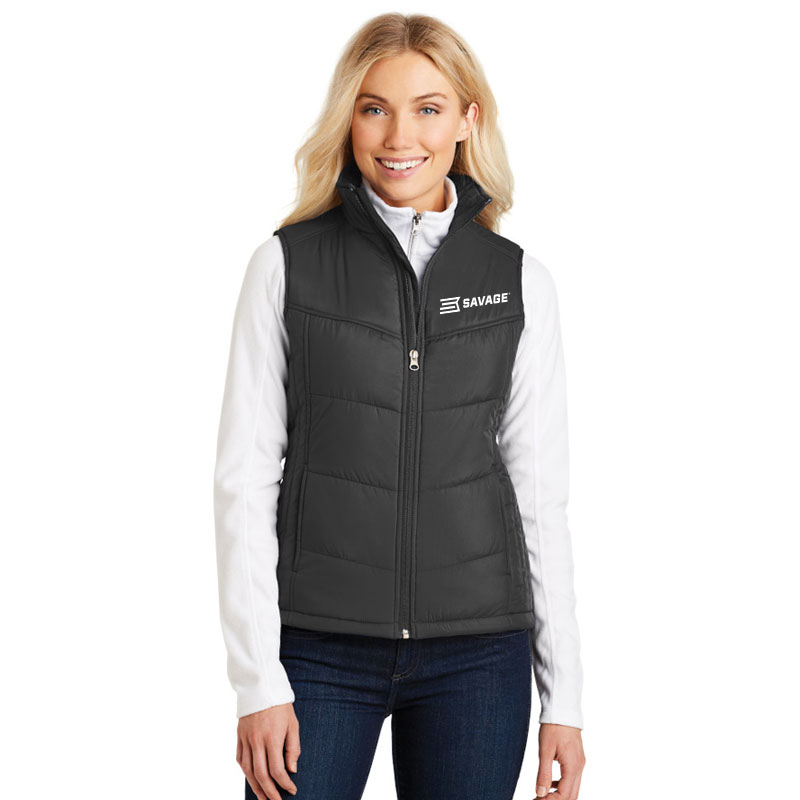 LADIES POLYESTER FULL ZIP VEST (Multiple Colors Available)