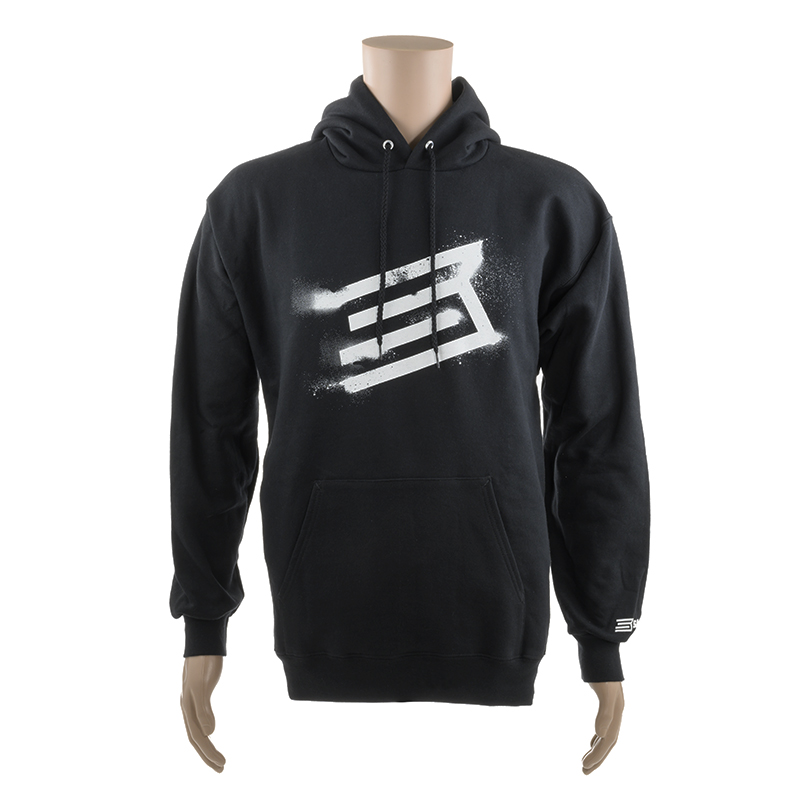 BLACK HOODED SWEATSHIRT w/ WHITE SAVAGE LOGO