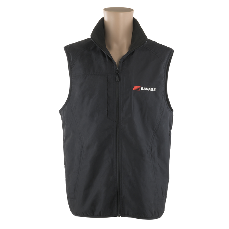 BLACK NYLON VEST w/ SAVAGE LOGO ON LEFT CHEST