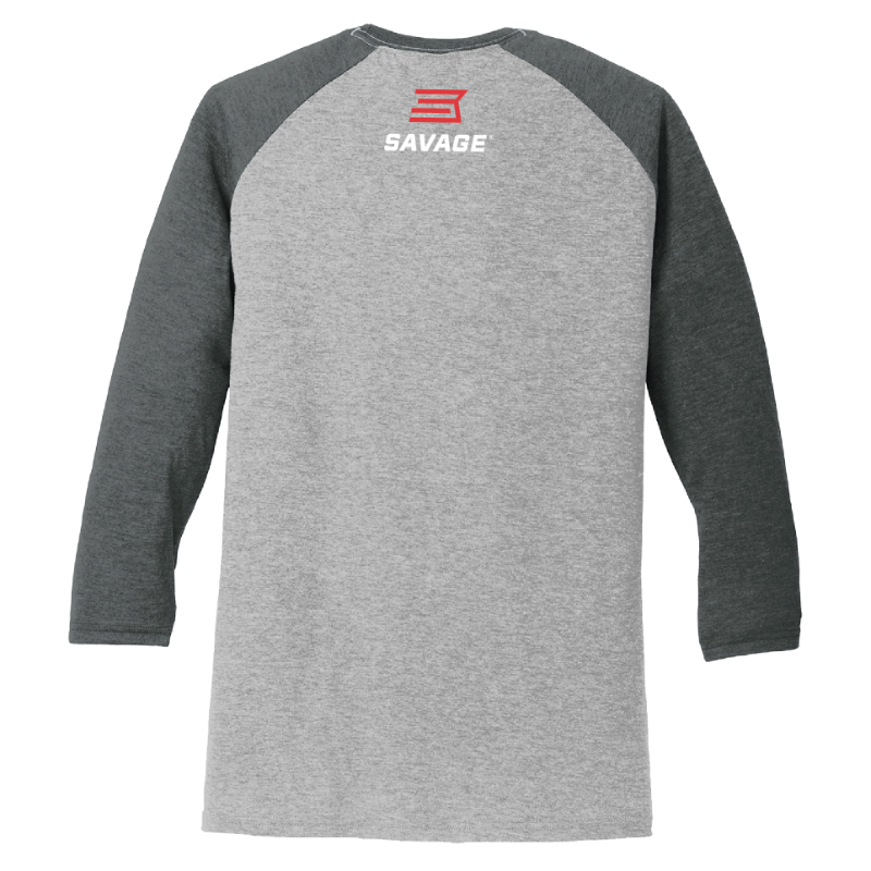 MEN'S 125TH ANNIVERSARY 3/4 SLEEVE BASEBALL RAGLAN T-SHIRT - BLACK/GRAY