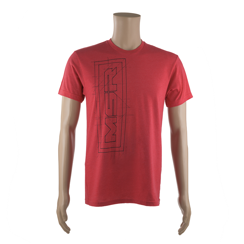 RED SHORT SLEEVE T-SHIRT w/ BLACK MSR LOGO