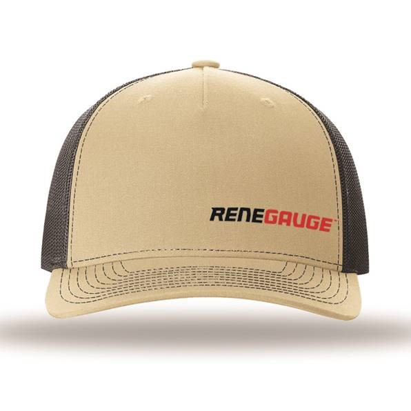 RICHARDSON TRUCKER CAP - KHAKI & BROWN WITH RENEGAUGE LOGO