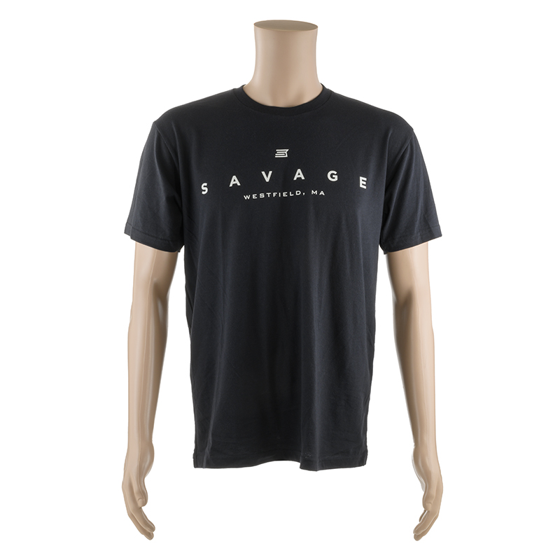 SHORT SLEEVE T-SHIRT w/ WHITE SAVAGE LOGO