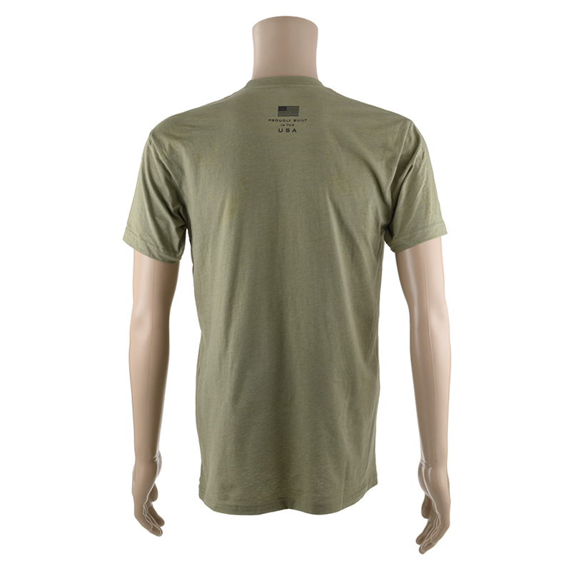 OLIVE DRAB GREEN SHORT SLEEVE T-SHIRT w/ BLACK SAVAGE LOGO