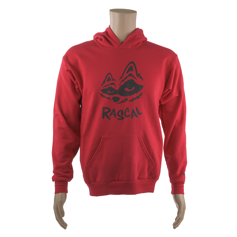 YOUTH HOODED SWEATSHIRT w/ BLACK RASCAL LOGO