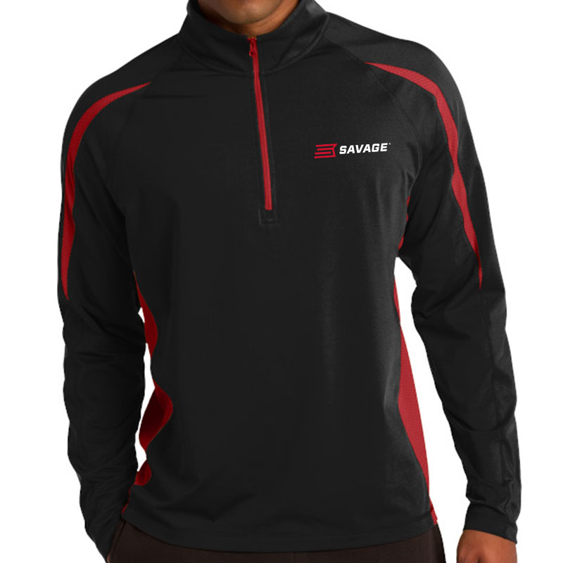 SPORT-TEK STRETCH 1/2 ZIP COLORBLOCK PULLOVER (Multiple Colors Available)